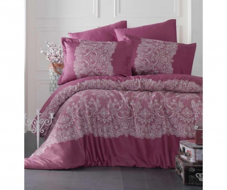 Posteljnina King Sateen Supreme Renda Pink