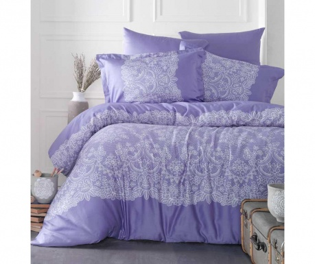 Posteljnina King Sateen Supreme Renda Purple