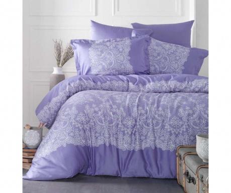 Posteljina King Satin Supreme Renda Purple