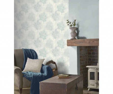Tapeta Silva Woods Cream Teal 53x1005 cm