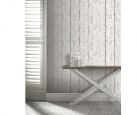 Tapeta Washed Wood Taupe 53x1005 cm