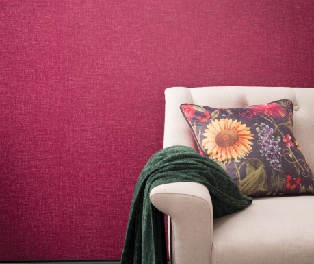 Stenska tapeta Linen Texture Raspberry 53x1005 cm