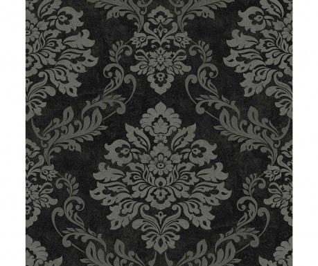 Tapeta Palazzo Damask Black Silver 53x1005 cm