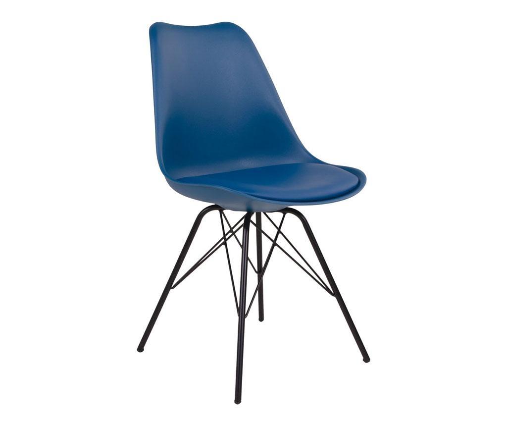 Sada 2 židlí Oslo Petrol Blue Black