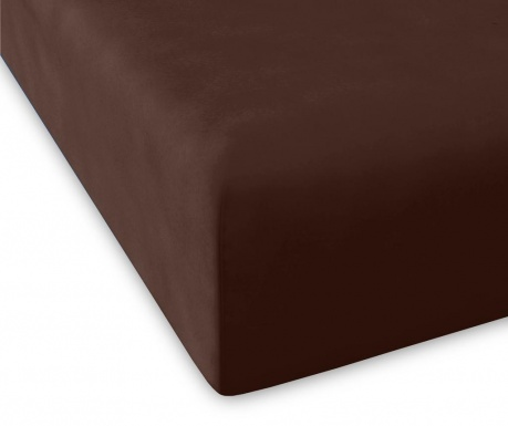 Cearsaf de pat cu elastic Casual High Chocolate