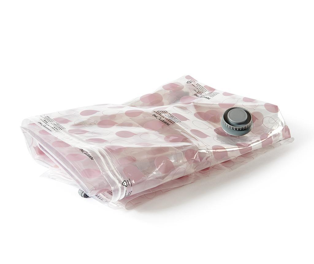 Vakuumsko tesnilna vreča za oblačila Riducispazio Pink 80x120 cm