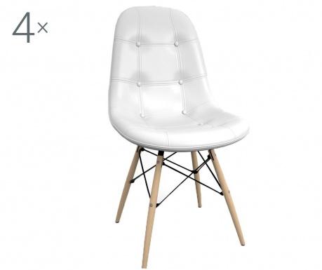 Set 4 stolov Classic White