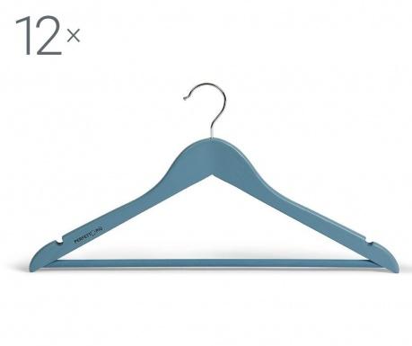 Set 12 obešalnikov Laccato Blue