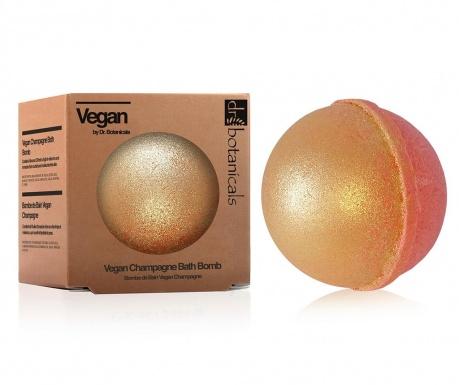 Šumeća sol za kupanje Vegan Champagne Bath Bomb 200 g