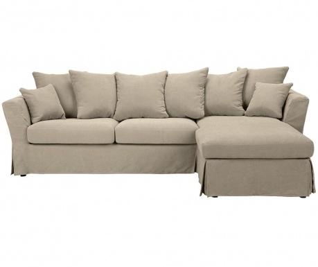 Разтегателен десен ъглов диван Helene Beige