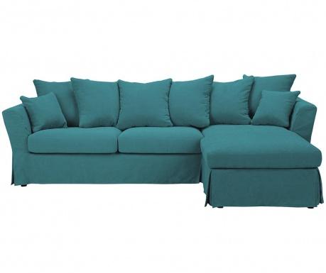 Разтегателен десен ъглов диван Helene Turquoise