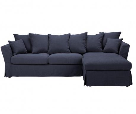 Разтегателен десен ъглов диван Helene Dark Blue