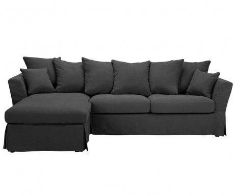 Разтегателен ляв ъглов диван Helene Dark Grey