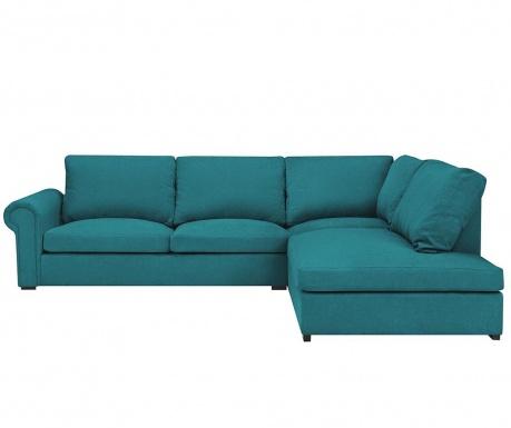 Десен ъглов диван Antoine Turquoise