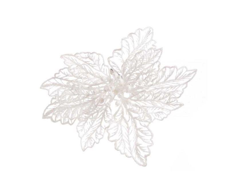 Decoratiune Poinsettia White
