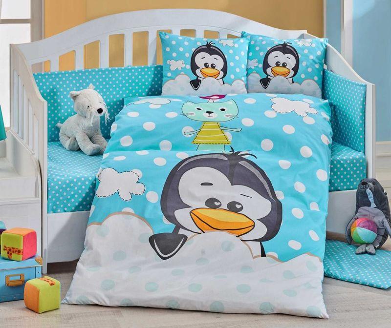 Lenjerie de patut Poplin Supreme Penguin