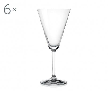 Set 6 kozarcev za vodo Jazz 220 ml