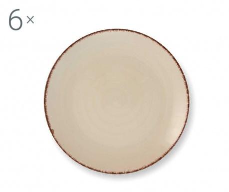 Set 6 desertnih krožnikov Baita White
