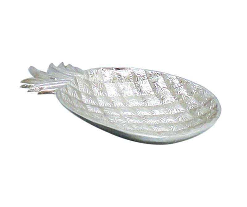 Ukrasni pladanj Evie Pineapple Silver S