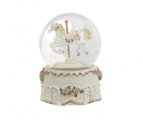 Decoratiune muzicala Snowball Horse Glitter
