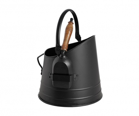 Sada kbelík a lopatka na uhlí Black Coal