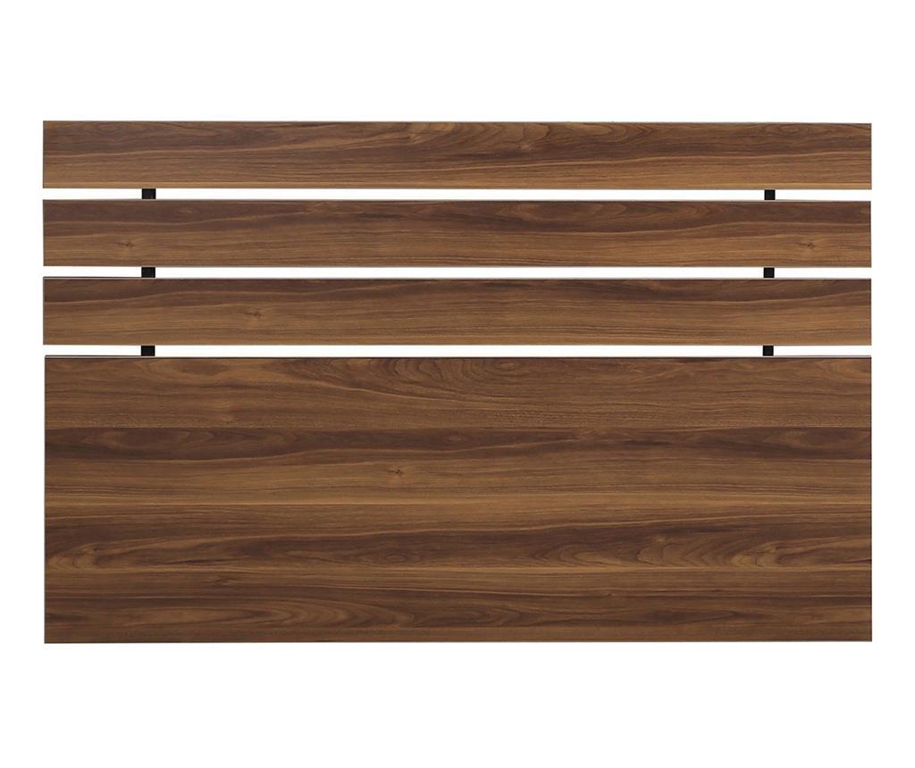 Posteljno vzglavje Fuga Walnut Brown 100x180 cm