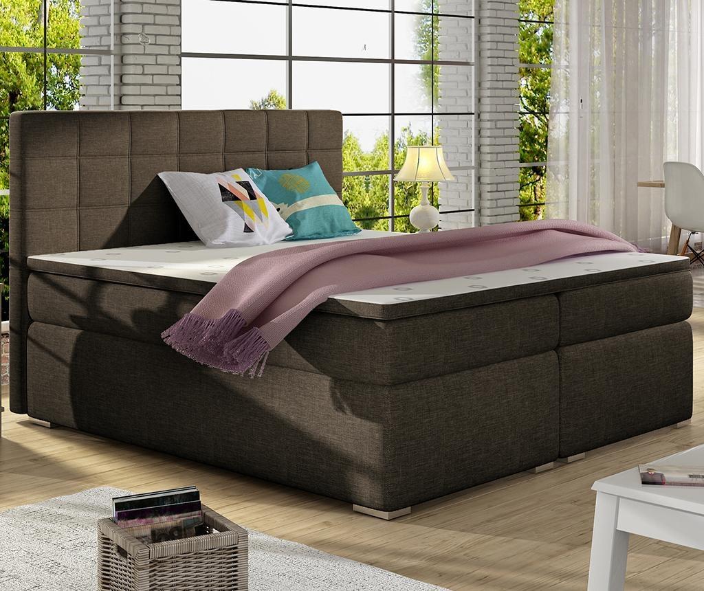 Boxspring krevet Alice Brown 160x200 cm