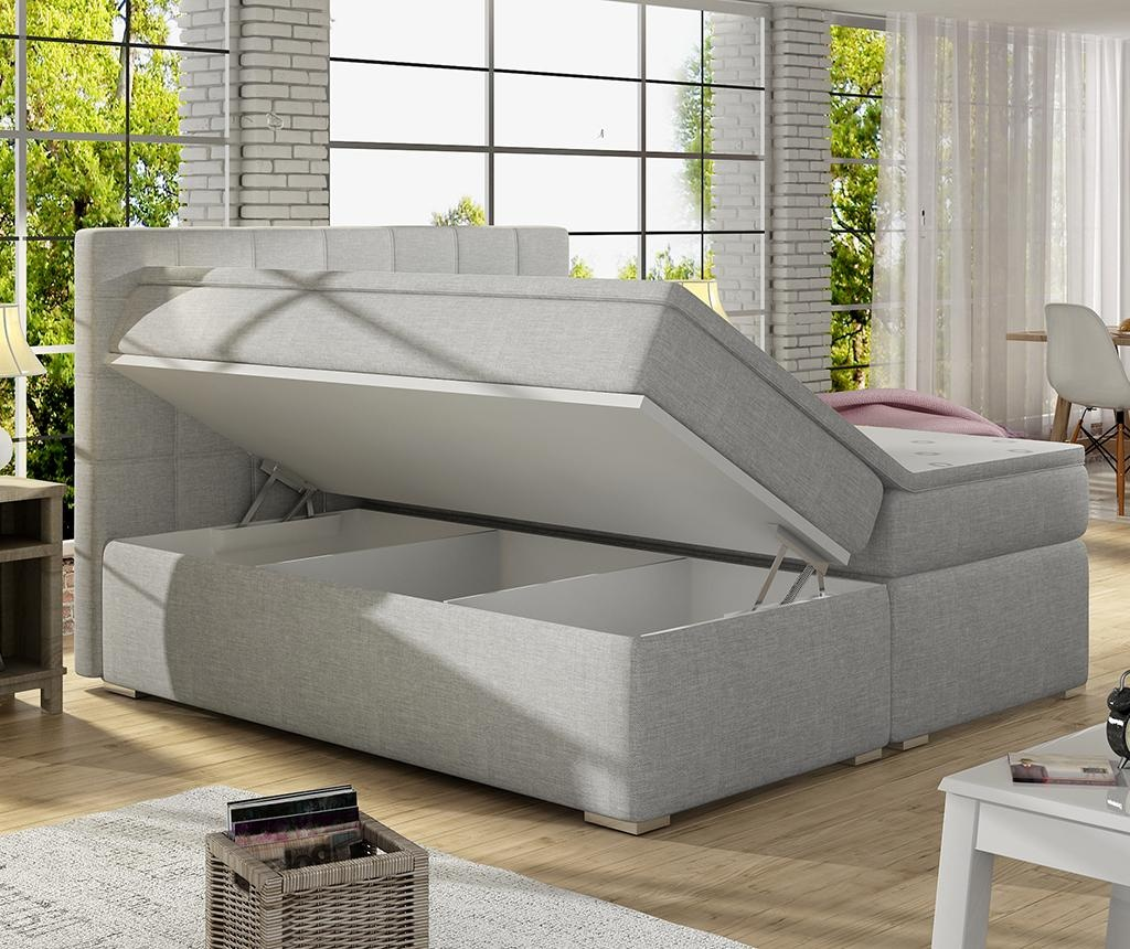 Boxspring krevet Alice Grey 180x200 cm