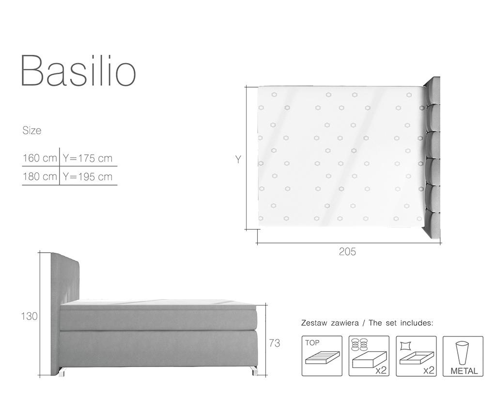 Boxspring krevet s LED svjetlom Basilio Beige 160x200 cm