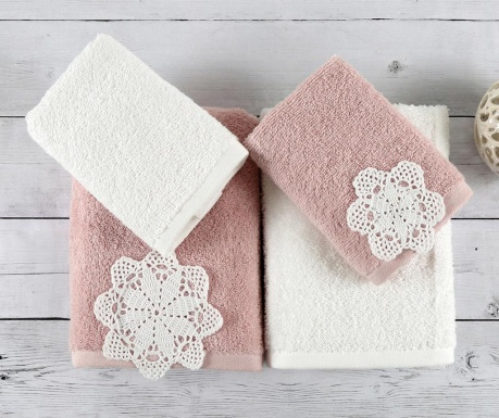 Set 4 kupaonska ručnika Doreen Powder