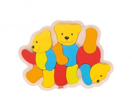 Sestavljanka iz 15 delov Bears