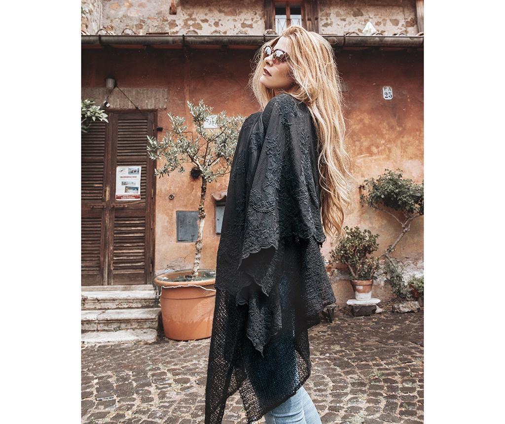 Piuma Nero Női kendő 130x180 cm