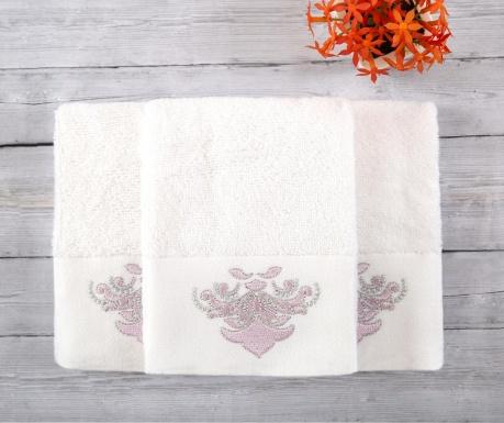 Sada 3 ručníků Adore White 30x50 cm