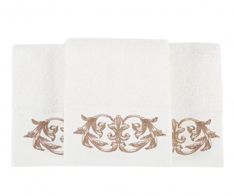 Sada 3 ručníků Queen Ecru 30x50 cm
