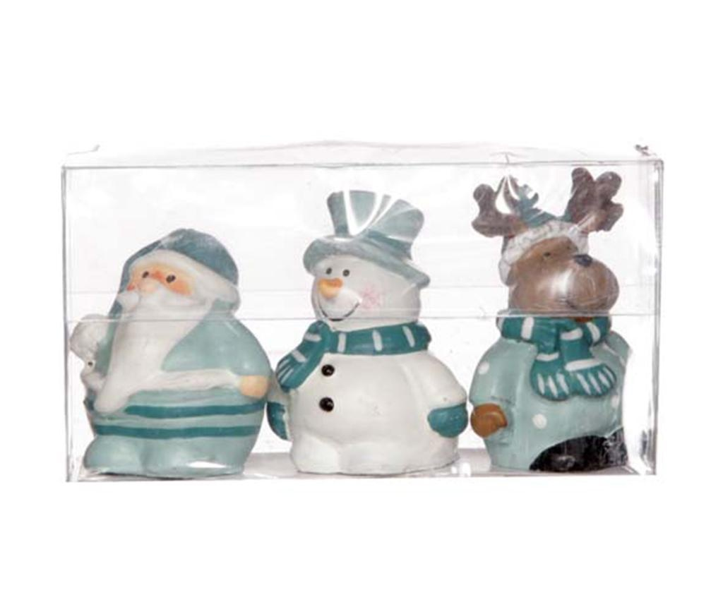 Set 3 ukrasa Mint Christmas