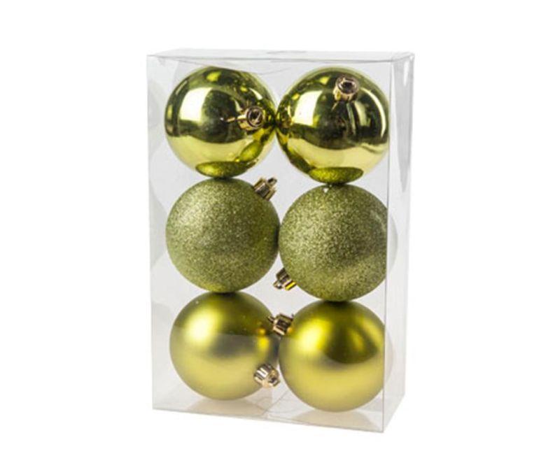 Set 6 globuri decorative Brilliance Maxi Gold