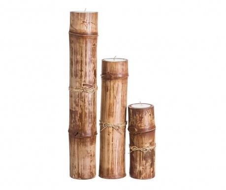 Комплект 3 свещника Bambo