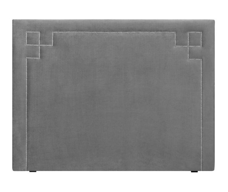 Tablie de pat Nicholas Light Grey Silver Pins 120x180 cm