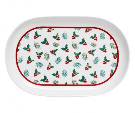 Christmas Tradition Oval Joy Szervírozó tál
