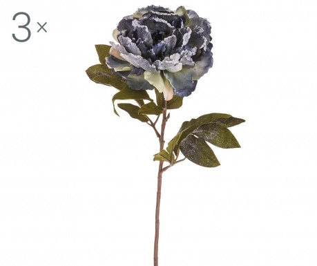 Set 3 umetnih cvetov Valeria Blue