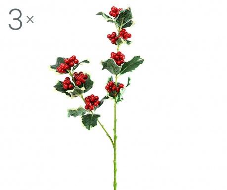 Sada 3 umělých květin Brayden