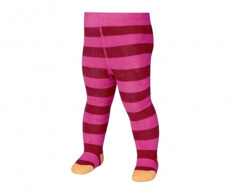 Otroške hlačne nogavice Block Stripes Pink 8-10 mesecev