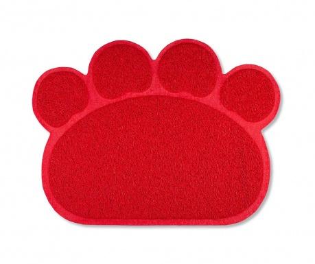 Covoras de intrare Dog Footprint Red 45x60 cm