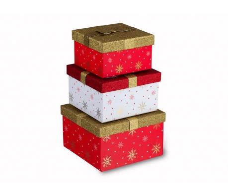 Set 3 cutii cu capac Stars