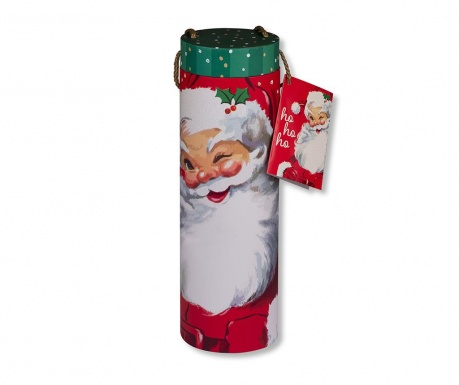Darilna škatla s pokrovom za steklenice Santa