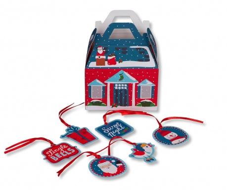 Set 48 darilnih etiket Tree Christmas