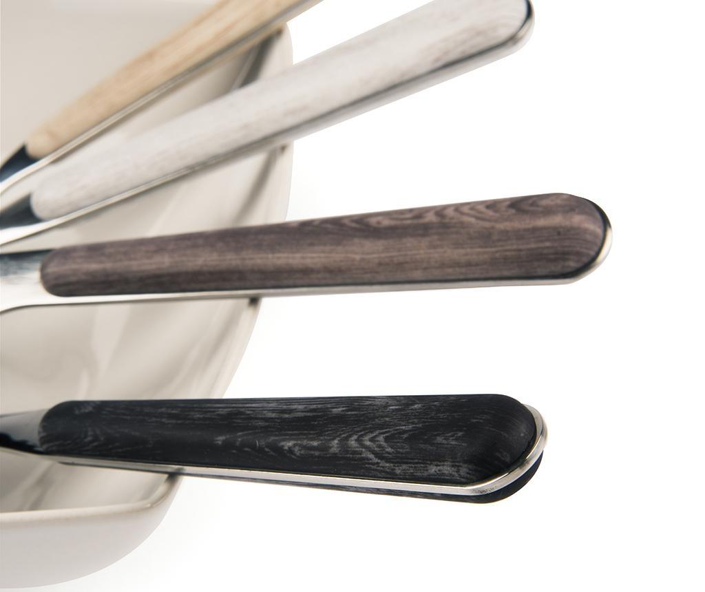 Wood Brown 24 darabos Evőeszköz készlet