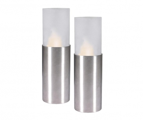 Set 2 svjetleća ukrasa Pier Candles