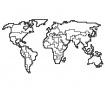 Sada 2 nástěnných dekorací World Map