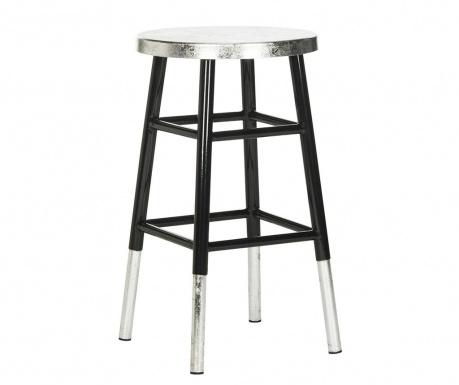 Barová stolička Lombardo Black Silver